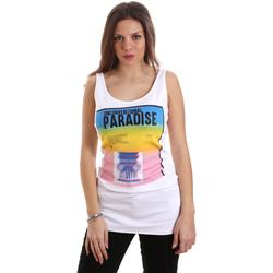 Odjeća Žene  Majice s naramenicama i majice bez rukava Versace D2HVB4V030384003 Bijela