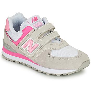 Obuća Djevojčica Niske tenisice New Balance 574 Siva / Ružičasta