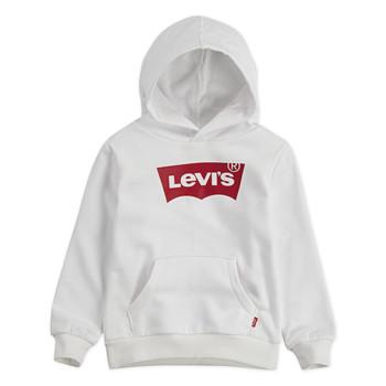 Odjeća Dječak  Sportske majice Levi's BATWING HOODIE Bijela