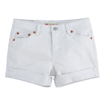 Odjeća Djevojčica Bermude i kratke hlače Levi's 4E4536-001 Bijela