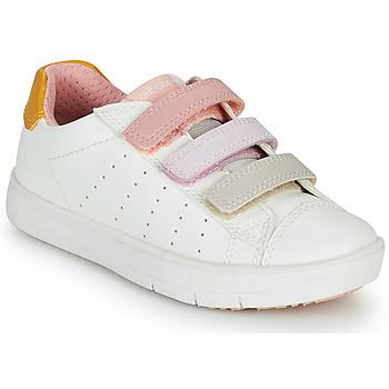 Obuća Djevojčica Niske tenisice Geox SILENEX GIRL Bijela / Ružičasta / Bež