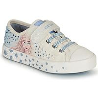 Obuća Djevojčica Niske tenisice Geox JR CIAK GIRL Bijela / Blue