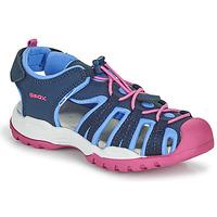 Obuća Djevojčica Sportske sandale Geox BOREALIS GIRL Blue / Ružičasta