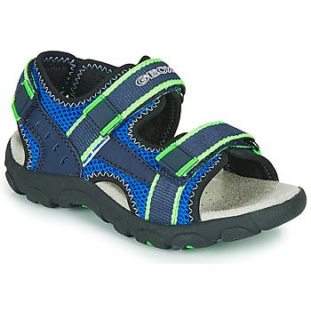 Obuća Dječak  Sportske sandale Geox JR SANDAL STRADA Blue / Zelena