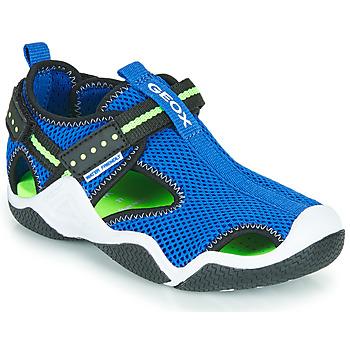 Obuća Dječak  Sportske sandale Geox JR WADER Blue / Zelena