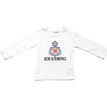 Odjeća Dječak  Majice dugih rukava Iceberg TSICE0316B Bianco