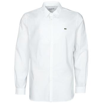 Odjeća Muškarci  Košulje dugih rukava Lacoste PITTA Bijela