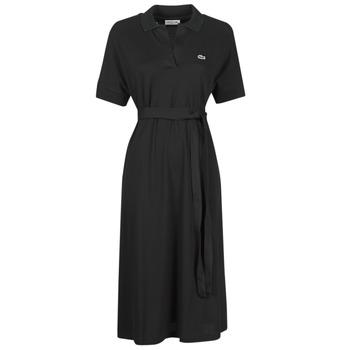 Odjeća Žene  Duge haljine Lacoste KONNI Crna
