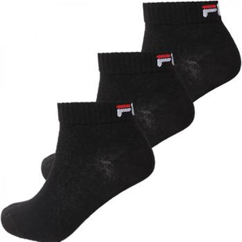 Modni dodaci Čarape Fila Quarter unisex  3 pairs per pack Crna