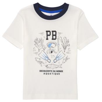 Odjeća Dječak  Majice kratkih rukava Petit Bateau MARCO Bijela