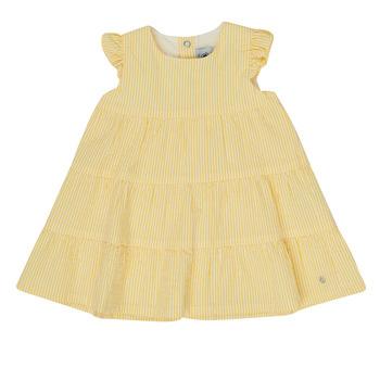 Odjeća Djevojčica Kratke haljine Petit Bateau MERINGUE Žuta