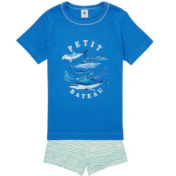 Odjeća Dječak  Pidžame i spavaćice Petit Bateau MAYONNAISE Multicolour