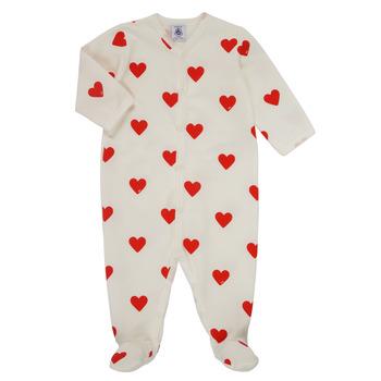 Odjeća Djevojčica Pidžame i spavaćice Petit Bateau MESCOEURS Bijela