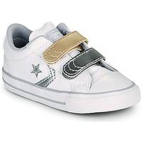 Obuća Djevojčica Niske tenisice Converse STAR PLAYER 2V METALLIC LEATHER OX Bijela