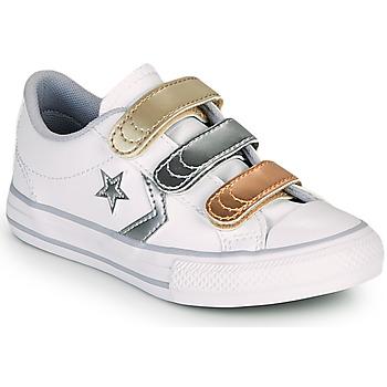 Obuća Djevojčica Niske tenisice Converse STAR PLAYER 3V METALLIC LEATHER OX Bijela
