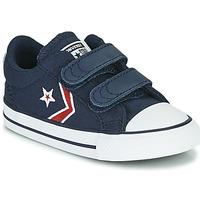 Obuća Dječak  Niske tenisice Converse STAR PLAYER 2V TEXTILE DISTORT OX Blue / Red