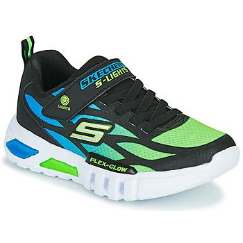 Obuća Dječak  Niske tenisice Skechers FLEX-GLOW Crna / Blue / Zelena