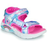 Obuća Djevojčica Sportske sandale Skechers RAINBOW RACER Srebrna / Ružičasta