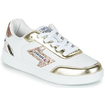Obuća Žene  Niske tenisice Le Temps des Cerises FLASH Bijela / Gold