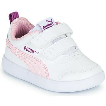 Obuća Djevojčica Niske tenisice Puma COURTFLEX INF Bijela / Ružičasta