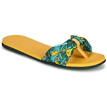 Obuća Žene  Japanke Havaianas YOU SAINT TROPEZ Žuta / Gold