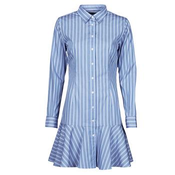 Odjeća Žene  Kratke haljine Lauren Ralph Lauren TRIELLA Blue / Bijela