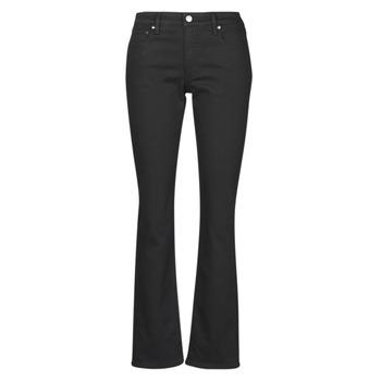 Odjeća Žene  Traperice ravnog kroja Lauren Ralph Lauren MIDRISE STRT-5-POCKET-DENIM Crna