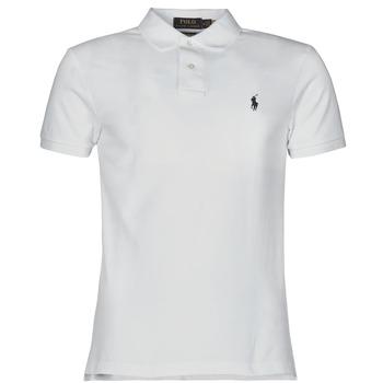 Odjeća Muškarci  Polo majice kratkih rukava Polo Ralph Lauren POLO CINTRE SLIM FIT EN COTON BASIC MESH LOGO PONY PLAYER Bijela