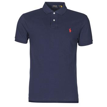 Odjeća Muškarci  Polo majice kratkih rukava Polo Ralph Lauren POLO CINTRE SLIM FIT EN COTON BASIC MESH LOGO PONY PLAYER Blue