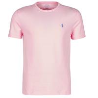 Odjeća Muškarci  Majice kratkih rukava Polo Ralph Lauren T-SHIRT AJUSTE COL ROND EN COTON LOGO PONY PLAYER Ružičasta