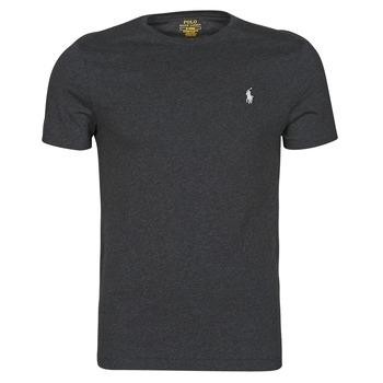 Odjeća Muškarci  Majice kratkih rukava Polo Ralph Lauren T-SHIRT AJUSTE COL ROND EN COTON LOGO PONY PLAYER Crna