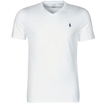 Odjeća Muškarci  Majice kratkih rukava Polo Ralph Lauren T-SHIRT AJUSTE COL V EN COTON LOGO PONY PLAYER Bijela