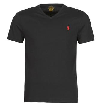 Odjeća Muškarci  Majice kratkih rukava Polo Ralph Lauren T-SHIRT AJUSTE COL V EN COTON LOGO PONY PLAYER Crna