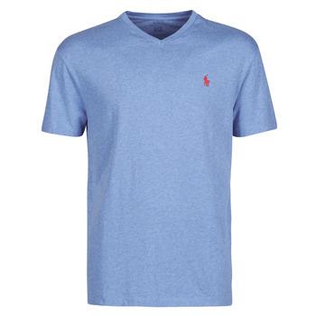 Odjeća Muškarci  Majice kratkih rukava Polo Ralph Lauren T-SHIRT AJUSTE COL V EN COTON LOGO PONY PLAYER Blue