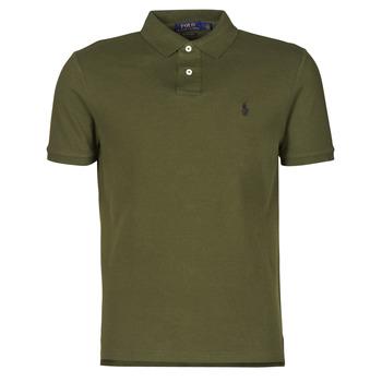 Odjeća Muškarci  Polo majice kratkih rukava Polo Ralph Lauren POLO AJUSTE DROIT EN COTON BASIC MESH LOGO PONY PLAYER Kaki