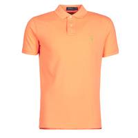 Odjeća Muškarci  Polo majice kratkih rukava Polo Ralph Lauren POLO AJUSTE DROIT EN COTON BASIC MESH LOGO PONY PLAYER Narančasta