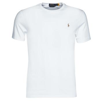 Odjeća Muškarci  Majice kratkih rukava Polo Ralph Lauren T-SHIRT AJUSTE COL ROND EN PIMA COTON LOGO PONY PLAYER MULTICOLO Bijela