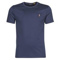 Odjeća Muškarci  Majice kratkih rukava Polo Ralph Lauren T-SHIRT AJUSTE COL ROND EN PIMA COTON LOGO PONY PLAYER MULTICOLO Blue