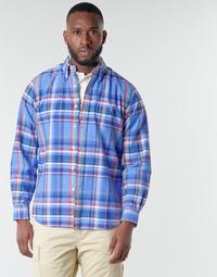 Odjeća Muškarci  Košulje dugih rukava Polo Ralph Lauren CHEMISE AJUSTEE EN OXFORD COL BOUTONNE  LOGO PONY PLAYER MULTICO Multicolour