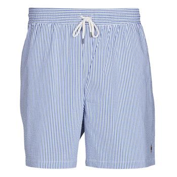 Odjeća Muškarci  Kupaći kostimi / Kupaće gaće Polo Ralph Lauren MAILLOT SHORT DE BAIN RAYE SEERSUCKER CORDON DE SERRAGE ET POCHE Blue