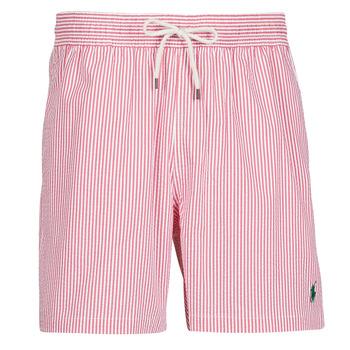 Odjeća Muškarci  Kupaći kostimi / Kupaće gaće Polo Ralph Lauren MAILLOT SHORT DE BAIN RAYE SEERSUCKER CORDON DE SERRAGE ET POCHE Red / Bijela