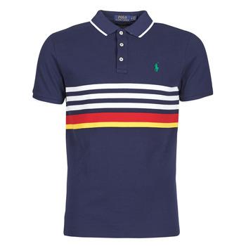 Odjeća Muškarci  Polo majice kratkih rukava Polo Ralph Lauren POLO AJUSTE DROIT RAYE AVEC DETAILS DE COL ET DETAILS MANCHES EN Multicolour