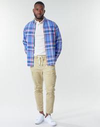 Odjeća Muškarci  Cargo hlače Polo Ralph Lauren SHORT PREPSTER AJUSTABLE ELASTIQUE AVEC CORDON INTERIEUR LOGO PO Bež