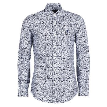 Odjeća Muškarci  Košulje dugih rukava Polo Ralph Lauren CHEMISE CINTREE SLIM FIT EN POPLINE DE COTON COL BOUTONNE LOGO P Blue