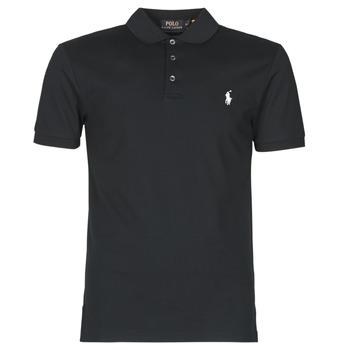 Odjeća Muškarci  Polo majice kratkih rukava Polo Ralph Lauren POLO CINTRE SLIM FIT EN COTON STRETCH MESH LOGO PONY PLAYER Crna