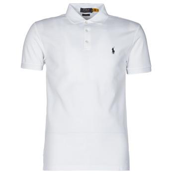 Odjeća Muškarci  Polo majice kratkih rukava Polo Ralph Lauren POLO CINTRE SLIM FIT EN COTON STRETCH MESH LOGO PONY PLAYER Bijela