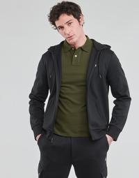 Odjeća Muškarci  Sportske majice Polo Ralph Lauren SWEATSHIRT A CAPUCHE ZIPPE EN JOGGING DOUBLE KNIT TECH LOGO PONY Crna