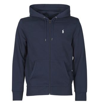 Odjeća Muškarci  Sportske majice Polo Ralph Lauren SWEATSHIRT A CAPUCHE ZIPPE EN JOGGING DOUBLE KNIT TECH LOGO PONY Blue
