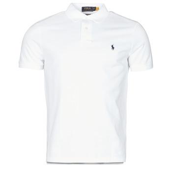 Odjeća Muškarci  Polo majice kratkih rukava Polo Ralph Lauren POLO AJUSTE DROIT EN COTON BASIC MESH LOGO PONY PLAYER Bijela