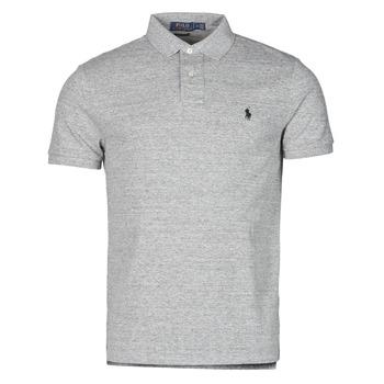 Odjeća Muškarci  Polo majice kratkih rukava Polo Ralph Lauren POLO AJUSTE DROIT EN COTON BASIC MESH LOGO PONY PLAYER Siva / Canterbury